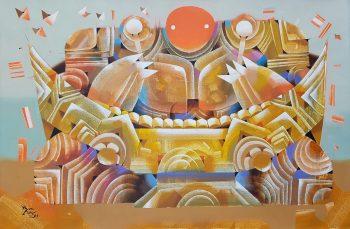 Ye-Win-Aung-Soloist-(1)-(2014)-24x36-Acrylic-and-Spray-on-Canvas