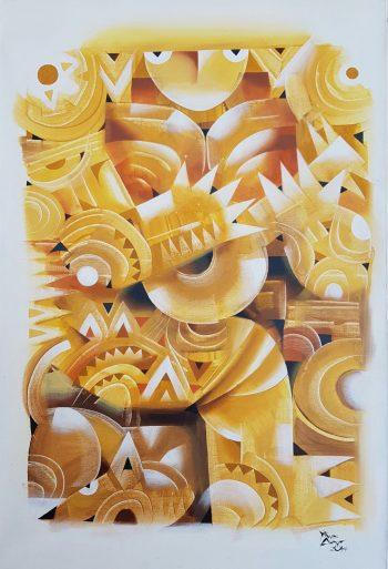 Ye-Win-Aung-Soloist-(2)-(2014)-24x36-Acrylic-and-Spray-on-Canvas