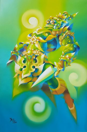 Ye-Win-Aung-The-Guardian-(1)-(2014)-24x36-Acrylic-and-Spray-on-Canvas