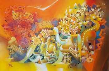 Ye-Win-Auang-The-Guardian-(2)-(2015)-24x36-Acrylic-and-Spray-on-Canvas