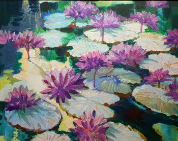 U-Lun-Gywe-Lotus-Pond-(2005)-24x30-Oil