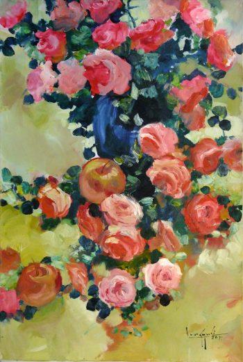 U-Lun-Gywe-Roses-and-Apples-2011-24x36-Oil