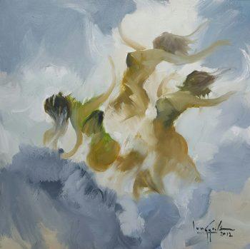 U-Lun-Gywe-Three-Sisters-(2012)-27x27-Oil