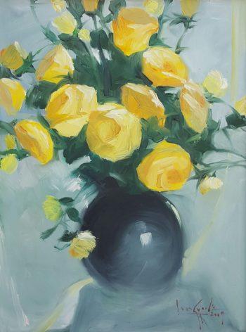 U-Lun-Gywe-Yellow-Roses-(2009)-18x24-Oil