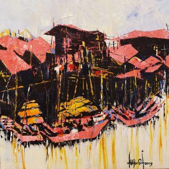 Moe-Kyaw-Thant-Canal-Side-(2019)-24x24-Acrylic